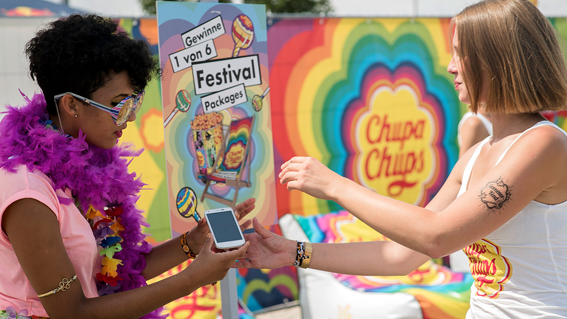 DIGITAL EVENT & LIVE COMMUNICATION Referenz - Chupa Chups - Stuttgart Festival