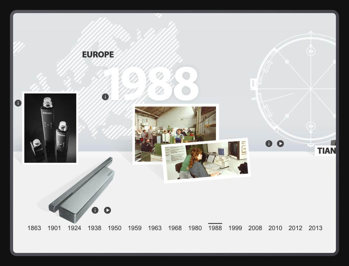 DIGITAL & COMMUNICATION Referenz - GEZE - 150-years