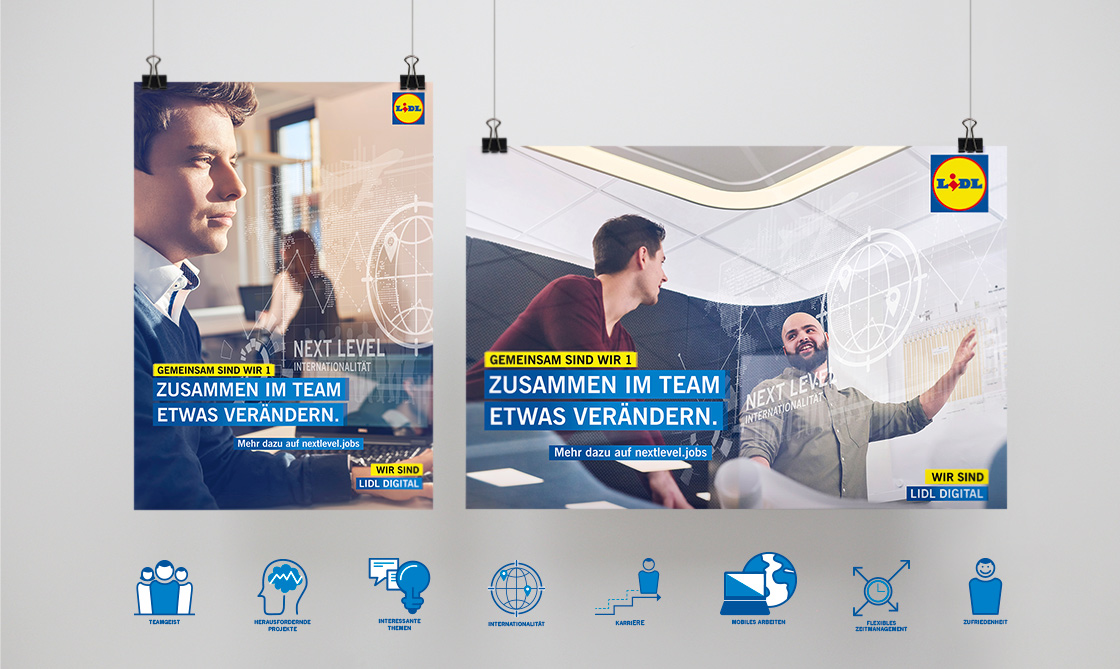Referenz - LIDL DIGITAL - International umbrella campaign